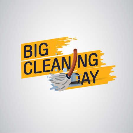 Cleaning Logo - Vector Illustration