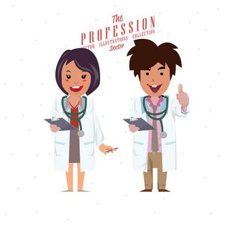 stethoscope boy: Doctor - vector Illustration Illustration
