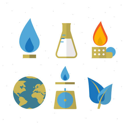 industry: Save Gas for the earth icon - vector illustration