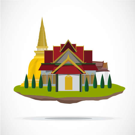 Thai temple. palace - vector illustration