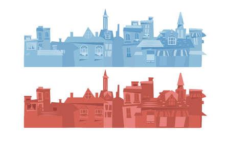 city background: Europe city background - vector illustration