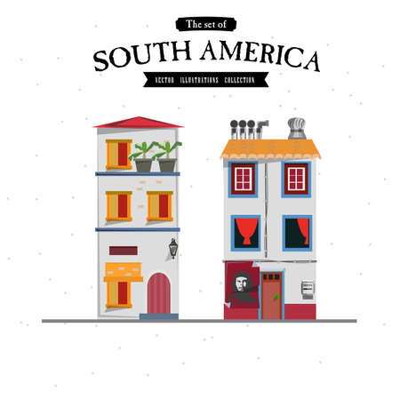south america: South America house style - vector illustration
