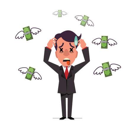 dinero volando: Vuelo del dinero - ilustraci�n vectorial