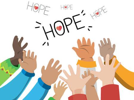 希望 - ベクトル図の手