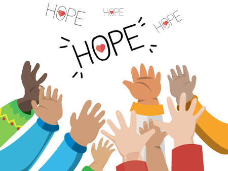 hopes: Hand of hope - vector illustration Illustration