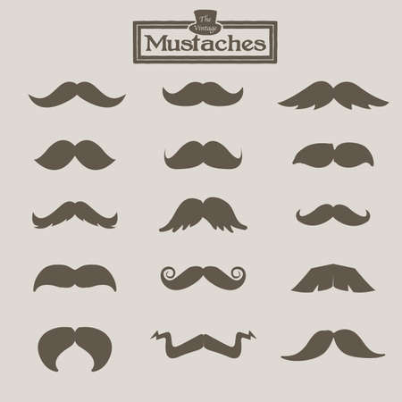 vintage mustache - vector illustration