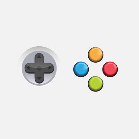 console game button - vector illustration