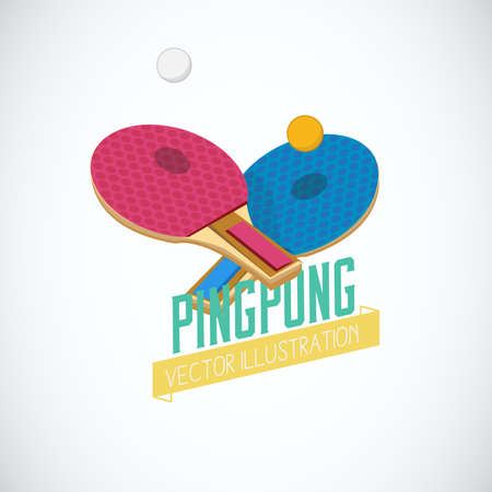 table tennis. ping pong - vector illustration