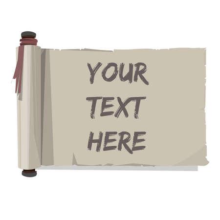 paper scroll: old paper scroll. - vector illustration Illustration
