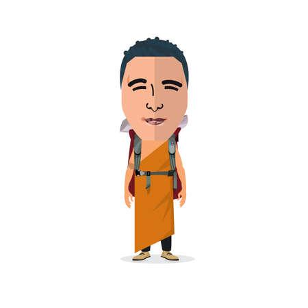 traveler: traveler. monk - vector illustration