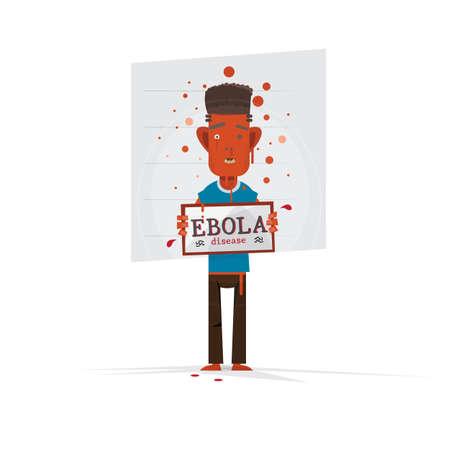 mug shot: Virus disease. Ebola. mug shot - vector illustration Illustration