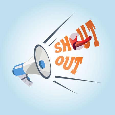 shouting: megaphone. shouting out - vector illustration Illustration