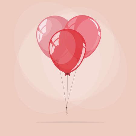 balloon vector: Heart balloon. love - vector illustration Illustration