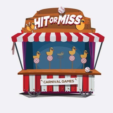 pato de hule: carnaval de juego. rodaje de pato - ilustraci�n vectorial