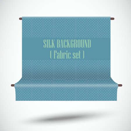 silk screen: heddle. silk background - vector illustration