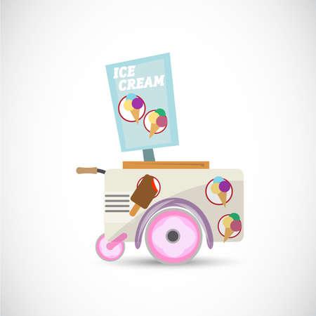 ice cream cart: ice cream cart - vector illustration