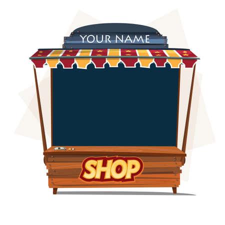 fondo de circo: shop booth. store - vector illustration