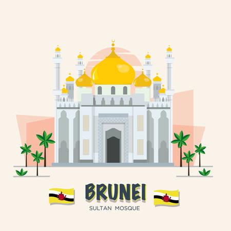 blue mosque: The grand mosque. landmark of brunei.
