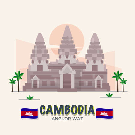 wat: Angkor Wat. cambodia landmark . 7th Wonder of the World.