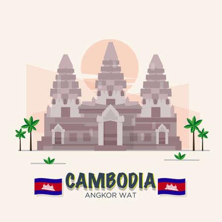 Angkor Wat. Cambodja landmark. 7th Wonder of the World.