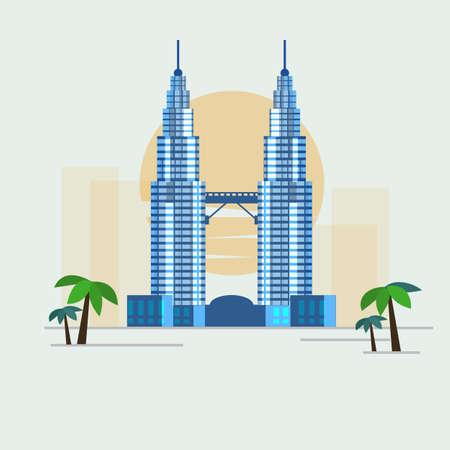 Kuala Lumpur, Maleisië - vector illustratie