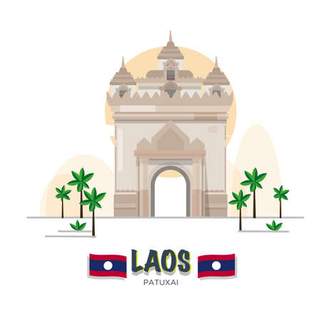 Patuxai Victory Monument in Vientiane. laos landmark.