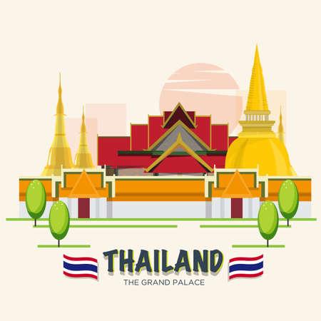 그랜드 팰리스. 방콕의 랜드 마크 스톡 콘텐츠 - 51662963