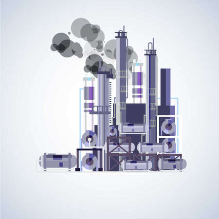 chemical structure: Heavy industry. factory - illustration Illustration