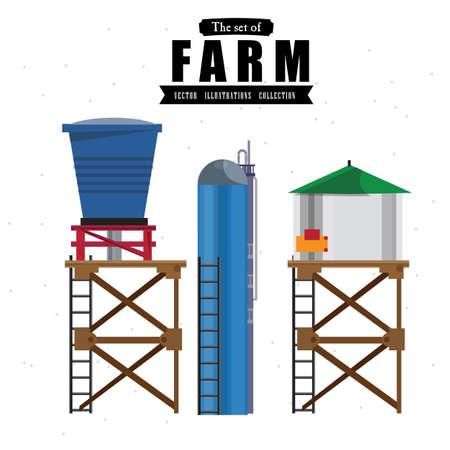 water tanks: water tanks - illustration Illustration