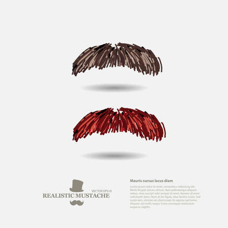 burly: set of vintage mustaches style - vector illustration