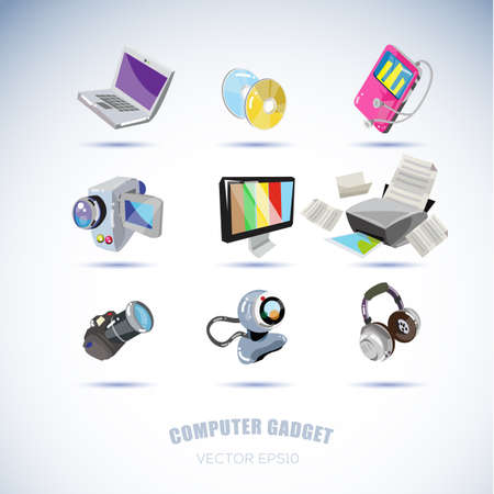 computer gadgets. technology concept - vector illustration Vectores