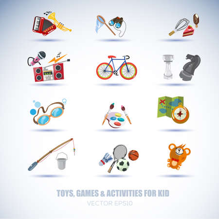 activities icon set - vector illustration