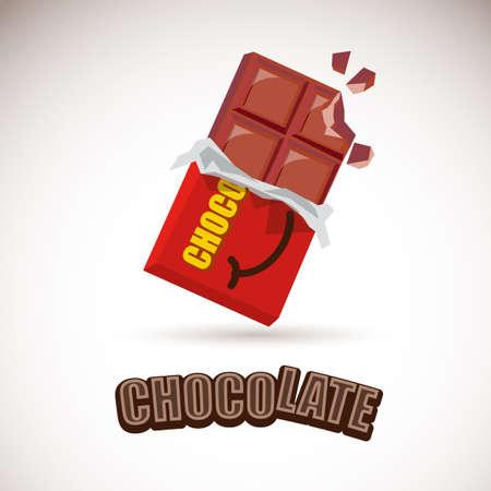 chocoladereep - vector illustratie