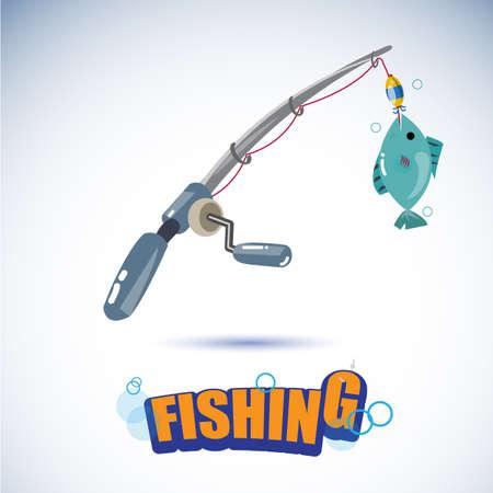 fishing rod - vector illustration Illustration