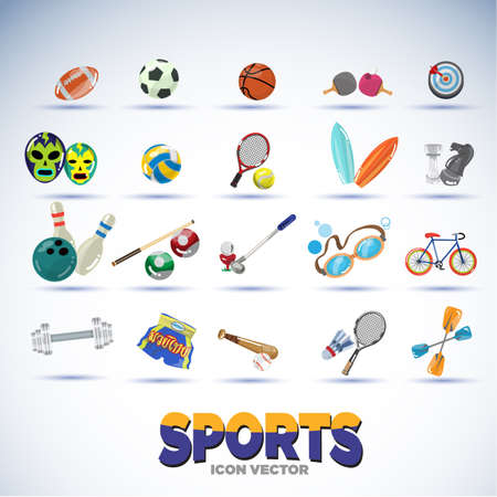 sport equipments - vector illustration Illusztráció