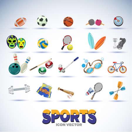 sport equipments - vector illustration Illustration