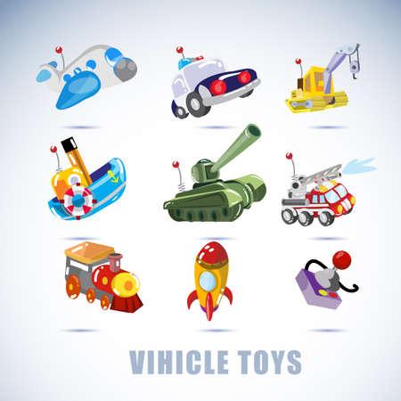 transportation cartoon: vehicle toys - vector illustration