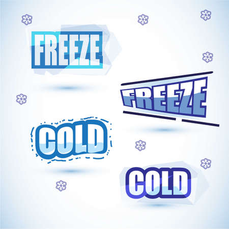 freeze: cold and freeze letters design - vector illustration