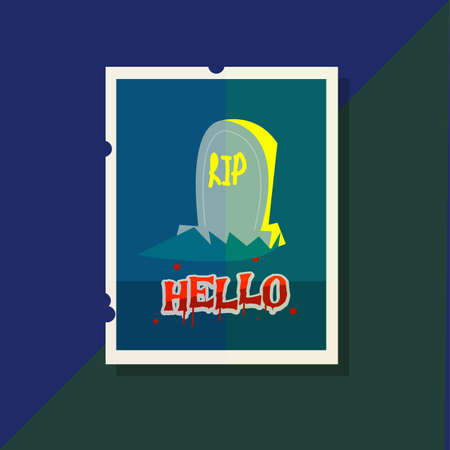 grave stone: grave stone with lettes design. poster style - vector illustration Illustration
