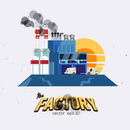 industry design: factory. industry concept with letters design - vector illustration