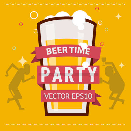 beer logo - vector illustration