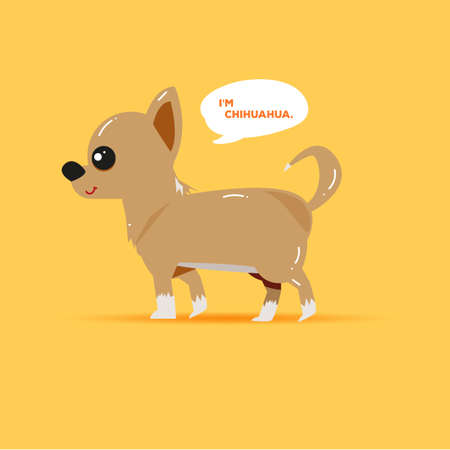 chihuahua puppy: chihuahua puppy character. cute pet concept - illustration Illustration