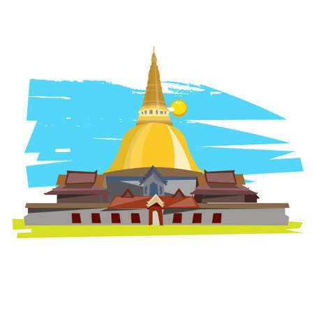 thai temple: Thai Temple  - vector illustration