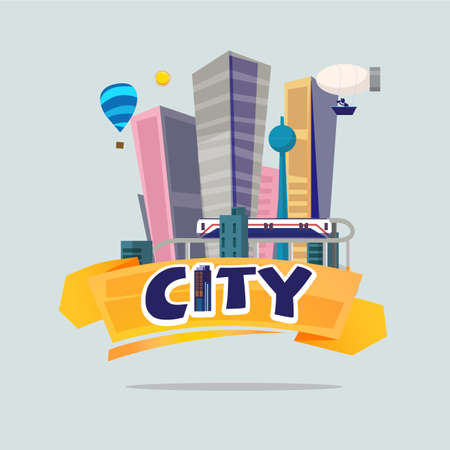 big city. logo concept - vector illustration Illustration