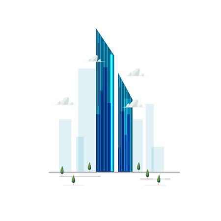 burj mohammed bin rashid tower in Dubai, UAE - vector illustration
