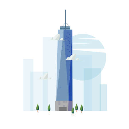 freedom tower building. famous landmark concept - vector
