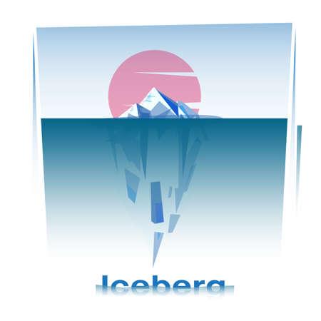 ijsberg met typografische - vectorillustratie