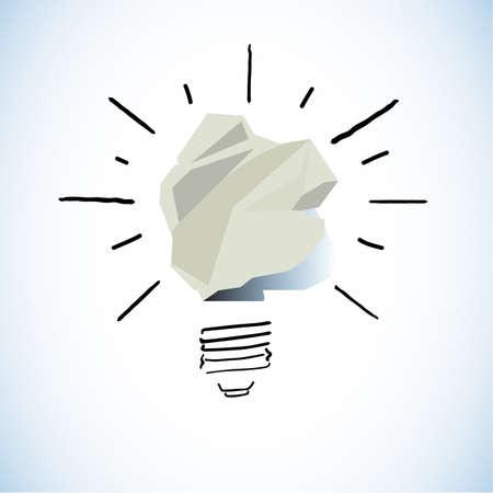 アイデア コンセプト - ベクトル図の紙
