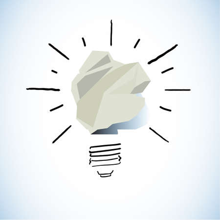 paper of idea concept - vector illustration Stock Vector - 85467180