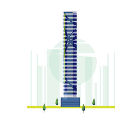 The Infinity Tower, Brisbane, Australia. famous building - vector illustration Çizim